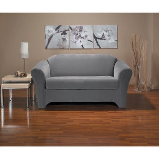 CoverWorks Eastwood 2-piece Stretch Loveseat Slipcover