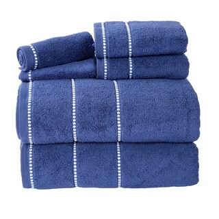 Windsor Home Quick Dry White Cotton Zero Twist 6-piece Towel Set