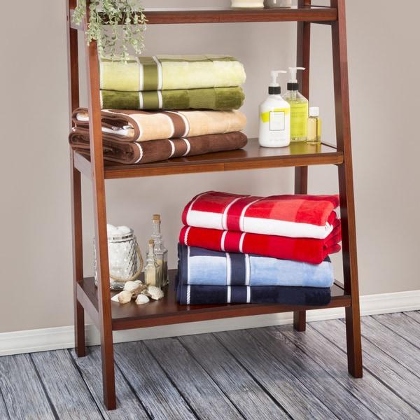 Shop Windsor Home 100-percent Cotton Oakville Velour 6 Piece Towel ...