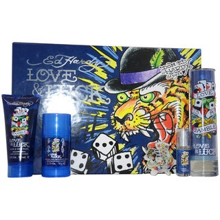 Ed Hardy Love & Luck Men's 4-piece Gift Set