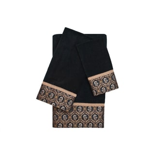 Sherry Kline Heartfield 3-Piece Decorative Embellished Towel Set