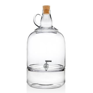 Glass Wine Jug Beverage Dispenser