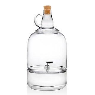 Glass Wine Jug Beverage Dispenser