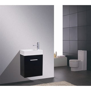 KubeBath Bliss 18-inch Single-sink Bathroom Vanity