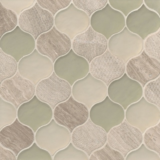 Rain Drop Pattern Chiffon Stone and Glass Mosaic Tile (Pack of 11 Sheets)