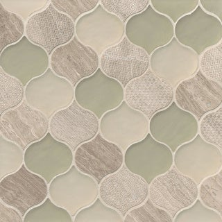 Rain Drop Pattern Chiffon Stone and Glass Mosaic Tile (Pack of 11 Sheets) (More options available)