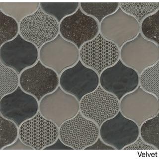 Rain Drop Pattern Chiffon Stone and Glass Mosaic Tile (Pack of 11 Sheets)