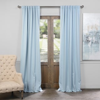 Exclusive Fabrics Thermal Insulated Solid Blackout 120-inch Curtain Panel Pair