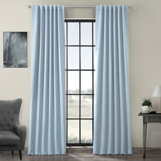 Exclusive Fabrics Thermal Insulated Solid Blackout 108-inch Curtain Panel Pair