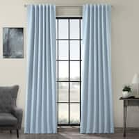 Exclusive Fabrics Thermal-insulated Solid Blackout 108-inch Curtain Panel Pair