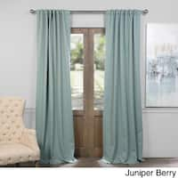 Exclusive Fabrics Thermal Insulated Solid Blackout 84-inch Curtain Panel Pair - 50 X 84