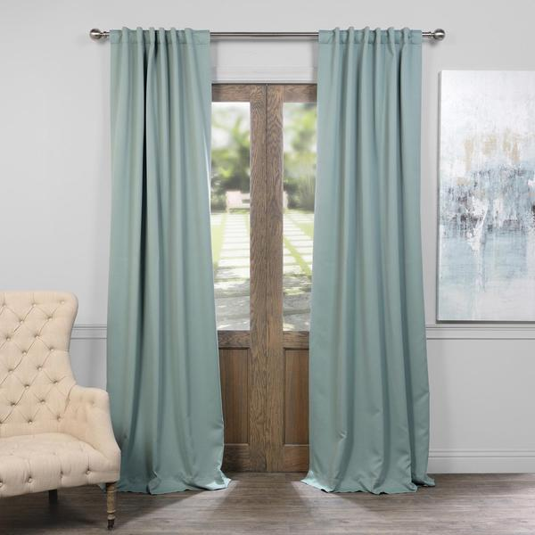 Exclusive Fabrics Thermal-insulated Solid Blackout 96-inch Curtain Panel Pair