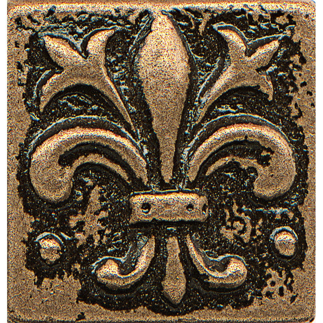 Bedrosians Fleur-de-lis Bronze Metal Resin Tile (1 Piece)...