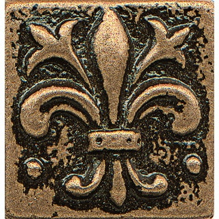 Bedrosians Fleur-de-lis Bronze Metal Resin Tile (1 Piece)