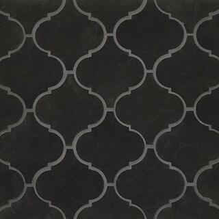 Bedrosians Black Stone 12.25-inch x 13.25-inch Mosaic Polstone Tiles (Box of 10 Sheets)