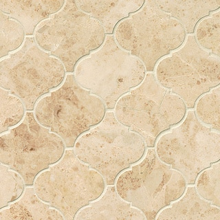 Cappuccino Polished Stone Arabesque Mosaic Tile (Pack Of 10 Sheets)|https://ak1.ostkcdn.com/images/products/11984362/P18865419.jpg?impolicy=medium