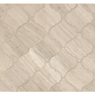 Bedrosians Ashen Grey Stone Arabesque Mosaic Honed Tiles (Pack of 10 Sheets)