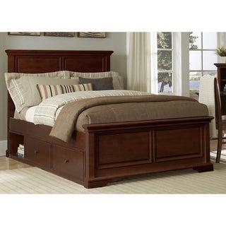 Walnut Street Chestnut Wood Full Devon Panel Bed With Storage