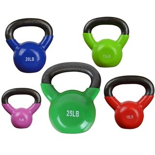 Bintiva Professional Grade Vinyl Coated Solid Cast Iron Kettlebells (2 options available)