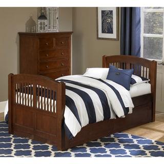 NE Kids Walnut Street Hayden Chestnut Wood Twin Bed with Trundle