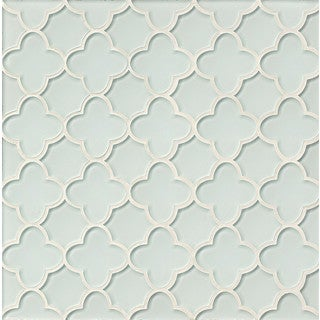 Flora Mosaic All-white Linen Glass Tile (Box of 11 Sheets)