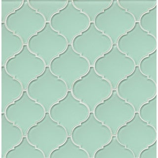 Bedrosians Mallorca Collection Arabesque Message In a Bottle Glass Tile (Box of 11 sheets)