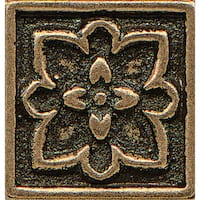 Bronze Metal Resin 1-inch x 1-inch Decorative Tile (1 Piece)