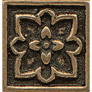 Bronze Metal Resin 1-inch x 1-inch Decorative Tile (1 Piece)