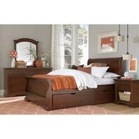 NE Kids Walnut Street Chestnut Riley Sleigh Full Bed with Trundle