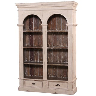 Bramble Co. Roosevelt Double Arch Antique Cream Bookcase