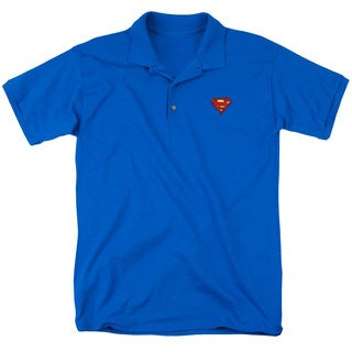 Superman/Super Patch Mens Regular Fit Polo in Royal