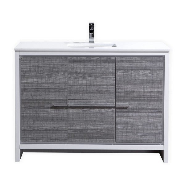kubebath dolce 48inch single sink bathroom vanity