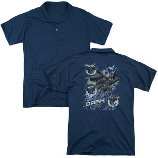Dark Knight/Attack From All Sides (Back Print) Mens Regular Fit Polo in Navy