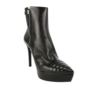 Prada Women's Black Leather Ankle Boots