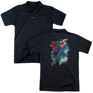 Superman/Annual #1 Cover (Back Print) Mens Regular Fit Polo in Black