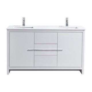 KubeBath Dolce 59-inch Double Sink Bathroom Vanity