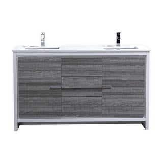 KubeBath Dolce 59-inch Double Sink Bathroom Vanity