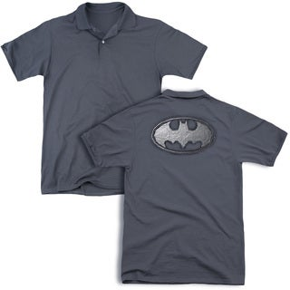 Batman/Duct Tape Logo (Back Print) Mens Regular Fit Polo in Charcoal