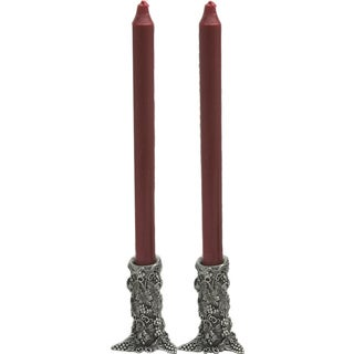 Pewter Grape Candlesticks (Set of 2)