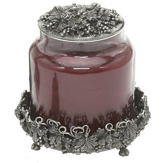 Grey Metal and Pewter 2-inch x 4-inch Candle Jar Holder