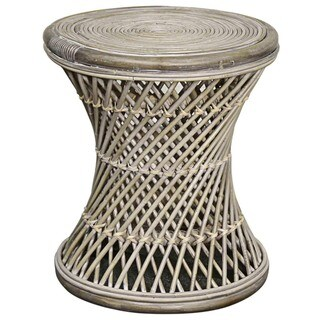 Link to Keala Brown/Off-white Rattan Round Stool Similar Items in Living Room Furniture