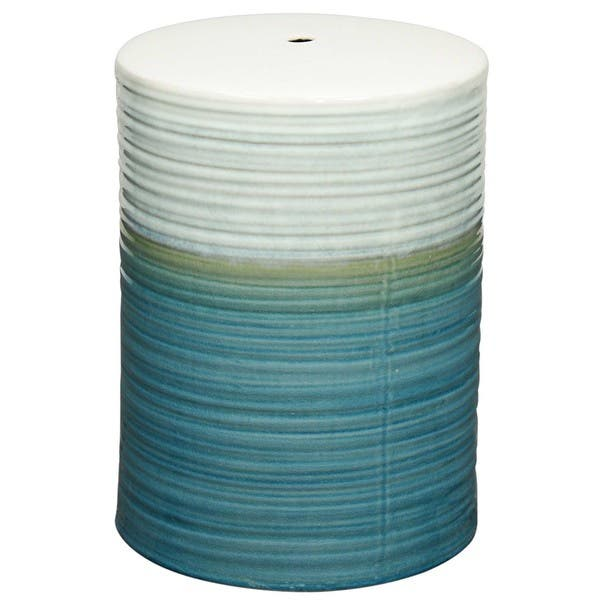 Admirable Shop Multicolor Swirl Ceramic Garden Stool Free Shipping Ncnpc Chair Design For Home Ncnpcorg