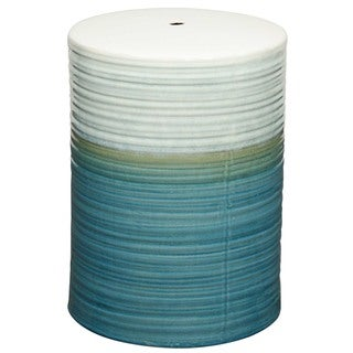 Multicolor Swirl Ceramic Garden Stool