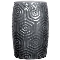 Daze Grey Ceramic Garden Stool