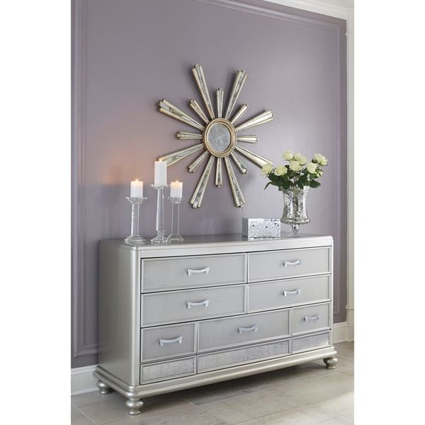 Signature Design By Ashley Coralayne Silver Dresser Free Shipping Today 18866047