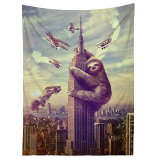 Sharp Shirter Slothzilla/ Sloth/ Tapestry