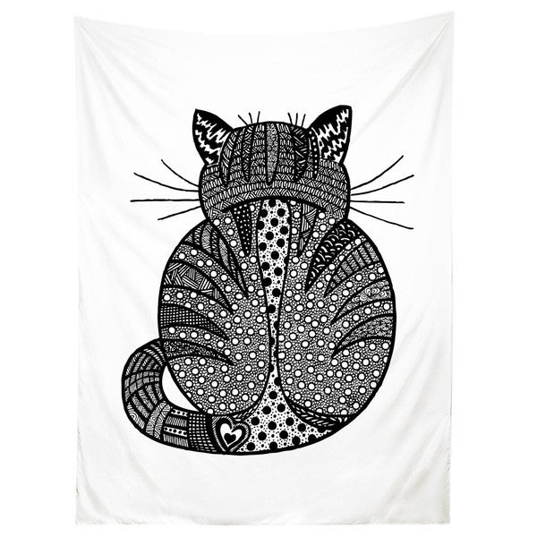 Sharp Shirter Rear View Kitty/ Cat/ Illustration/ Tapestry