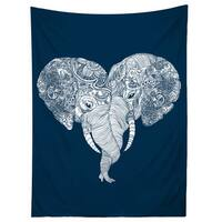 Sharp Shirter Punch Trunk Love/ Elephant Illustration Tapestry