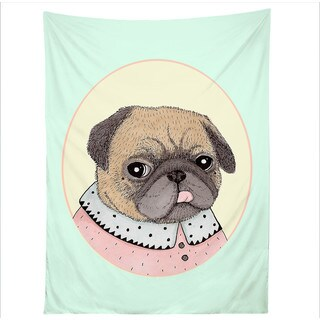 Sharp Shirter Pug Portrait/ Illustration/ Tapestry