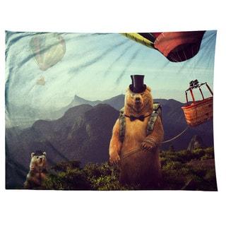 Sharp Shirter Hot Air Bearoons/ Bear/ Hot Air Balloons/ Tapestry